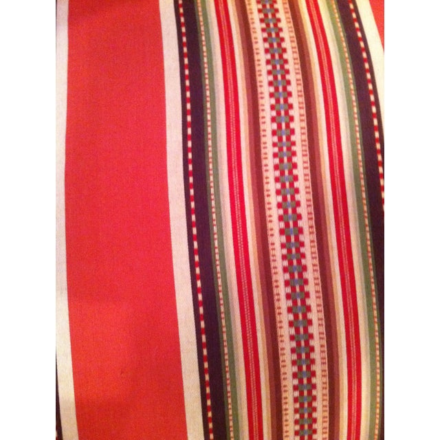 Red Striped Eastlake Slipper Chairs - A Pair - Image 2 of 4