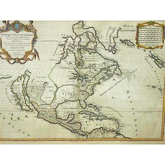 Tip Of South America Map.Large Antique 17th C Map N America To N Tip Of S America Framed