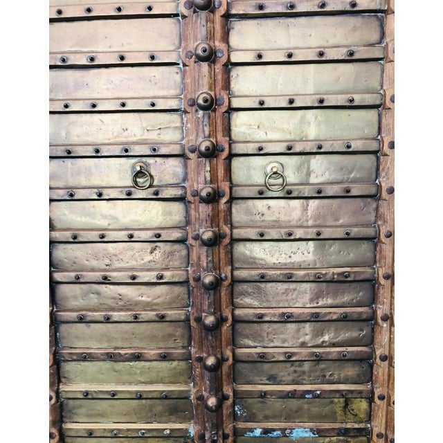 Antique Indian Teak Wood Hand Carved Doors For Sale In Miami - Image 6 of 12