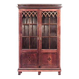 Austrian Neoclassical Style Bookcase Cabinet For Sale