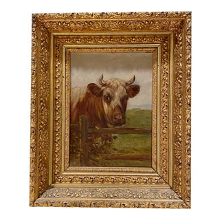 19th Century Continental Oil Painting For Sale