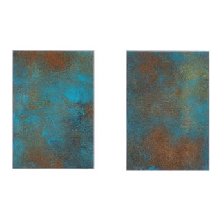 """Original Abstract """"Desert Treasure"""" Painting - 2 Pieces For Sale"""