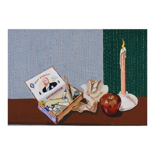 Cigar Box Still Life Painting For Sale