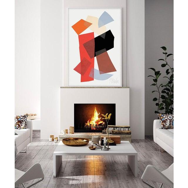 """Abracadabra"" by Liz Roache (Red, Black, Brown, Blue) This Modern, Mid Century, Contemporary, Fine Art Print created by..."