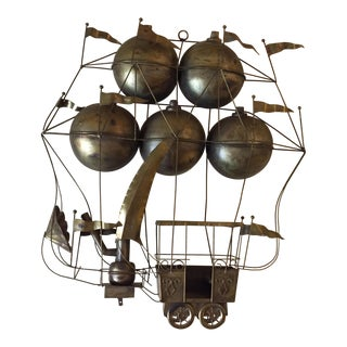 Curtis Jere Hot Air Balloon Wall Sculpture For Sale