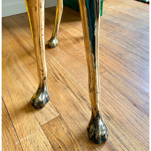 Life Size Vintage Brass Whippet Dog Statue For Sale In Portland, OR - Image 6 of 9