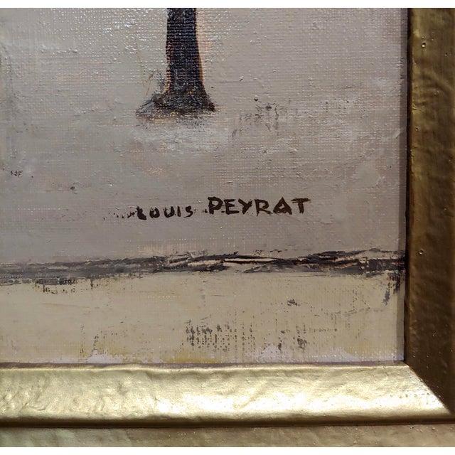Sand Louis Peyrat -Paris Street Scene - Oil Painting For Sale - Image 8 of 11