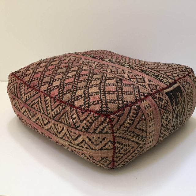 Vintage Moroccan Tribal Floor Pillow For Sale - Image 9 of 13