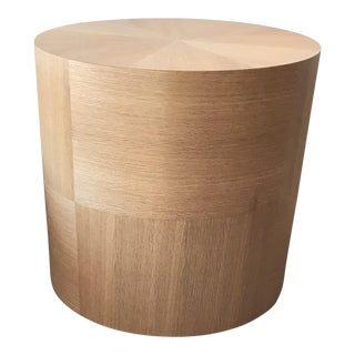 Custom Round Wood Drum Table