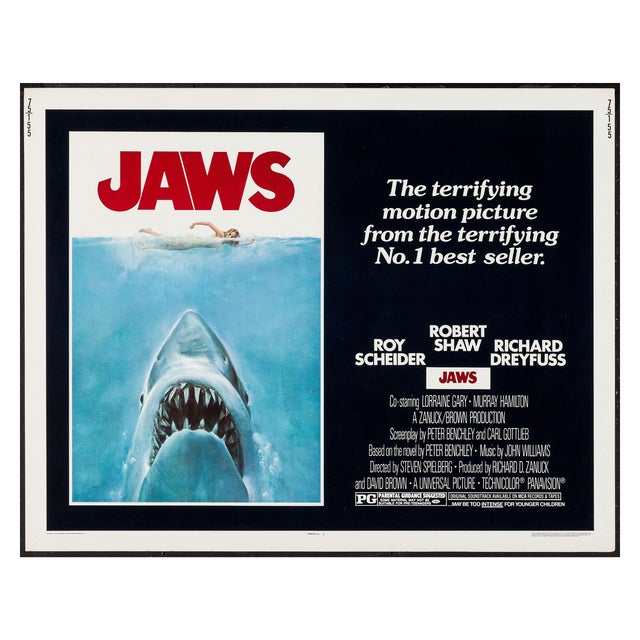 "American Original 1975 ""Jaws"" Film Poster For Sale - Image 3 of 4"