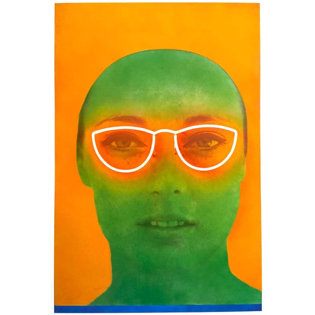 """Martial Raysee Moderna Museet Stockholm Lithograph Print Pop Art Poster """" France Verte """" 1964 For Sale - Image 12 of 13"""