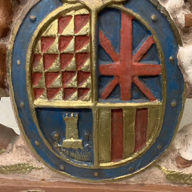 1980s Large Scale British Coat of Arms Sculpture For Sale - Image 5 of 13
