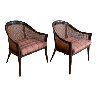 Pair of Harvey Probber Cane Lounge Chairs For Sale