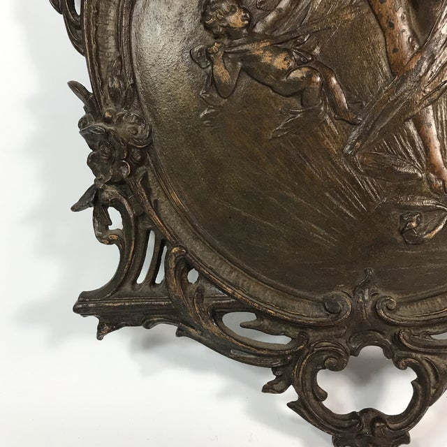 Bronze Antique Gilded Bronze Plaque For Sale - Image 7 of 11