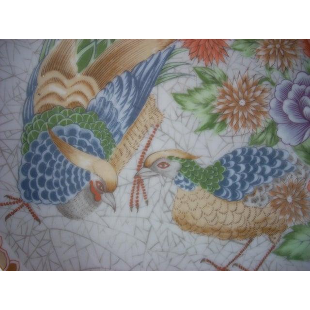 Asian Fleurs De Chine Plate For Sale - Image 3 of 5