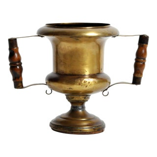 Antique French Brass Cup With Handles For Sale