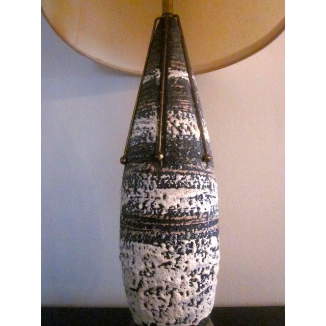 Brass Atomic Spoke Fat Glazed Drip MCM Lamp - Image 6 of 10