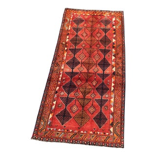 "Vintage Persian Qashghi Rug - 4'2""x9' For Sale"