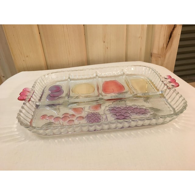 Mid-Century Modern Clear Glass Fruit Tray For Sale - Image 5 of 8