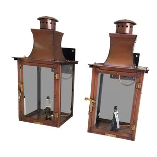 Bevolo Copper Wall Lanterns - a Pair For Sale