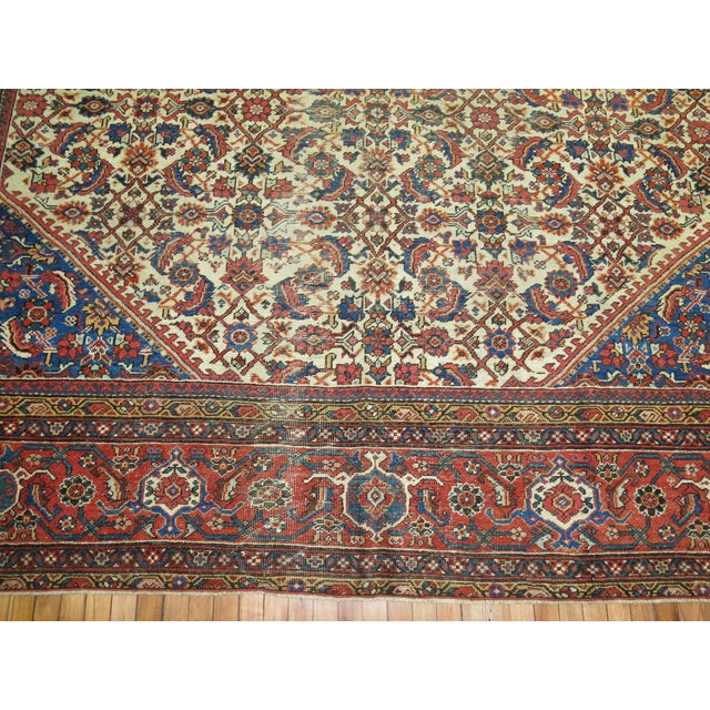 Ivory Mahal Sultanabad Rug. 10'8'' X 14'2''. For Sale - Image 8 of 9