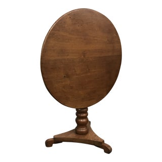 Antique Traditional North Carolina Tilt Top Table For Sale