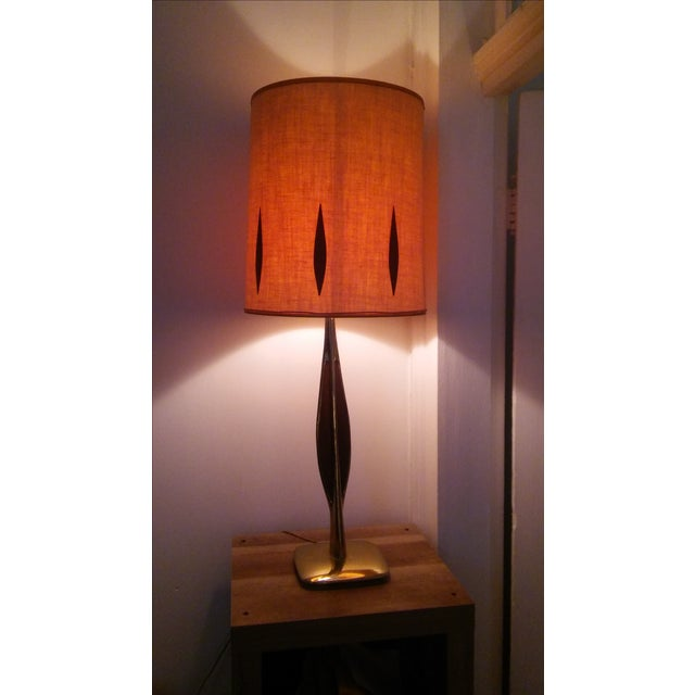 Vintage Mid-Century Brass Table Lamp - Image 2 of 6
