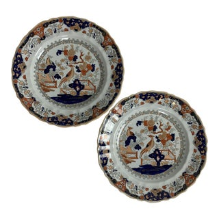Early 19th Century Mason's Ironstone Plates - a Pair For Sale