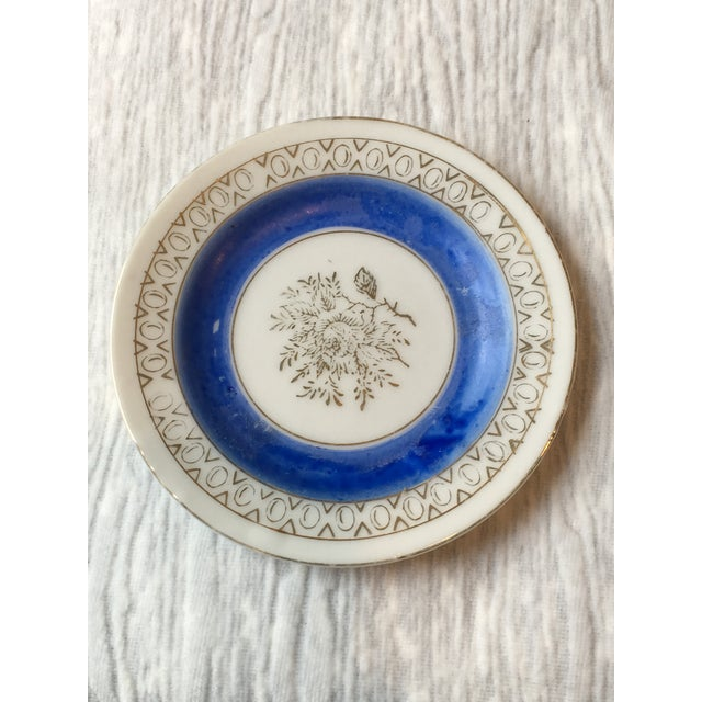 Asian Mid 20th Century Antique Japanese Porcelain Mini Plates - a Pair For Sale - Image 3 of 5