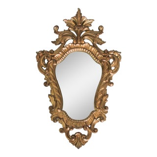 Petite Italian Accent Wall Mirror For Sale