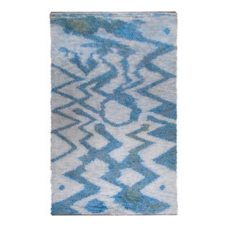 """LARGE 115"""" SWEDISH KNOTTED RYA CARPET, 1950S For Sale"""