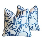 "Image of Designer Groundworks Bunny Hutch Feather/Down Pillows 17"" Square - Pair For Sale"