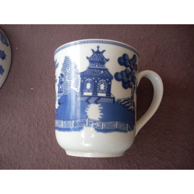 Asian Ironstone Johnson Bros Mugs & Bowls - Set of 10 For Sale - Image 3 of 4