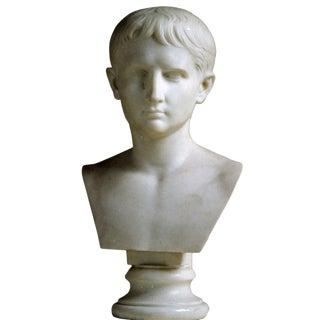 Italian Bust of Caesar Augustus, Ealry 19th c. For Sale