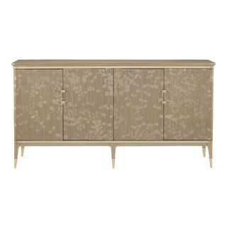 Caracole Modern Turn a New Leaf Gold Floral Console Table/Sideboard For Sale