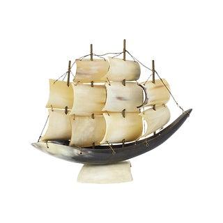 Italian Horn Ship Model For Sale