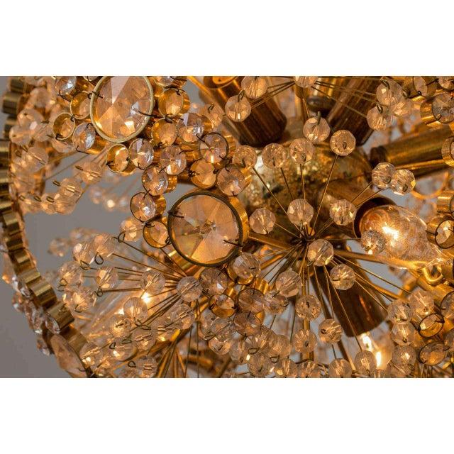 Gold Gilt Brass J.L. Lobmeyr Chandelier For Sale - Image 8 of 9