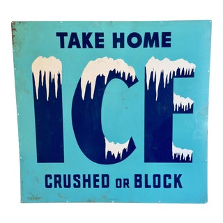 """Vintage New Old Stock """"Ice"""" Sign"""