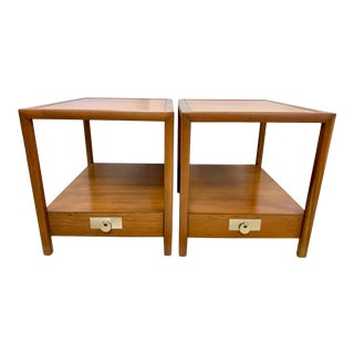 Mid Century Tiered End Tables by Michael Taylor for Baker Furniture For Sale