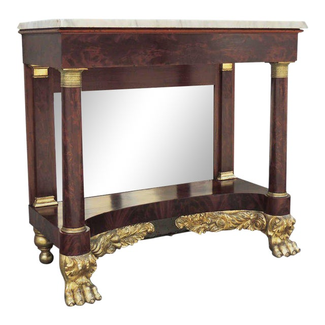 19th C New York Marble-Topped Pier Table For Sale