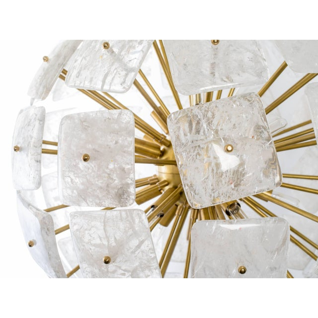 "Not Yet Made - Made To Order Large Sputnik Rock Crystal Chandelier ""Nova"", Limited Edition For Sale - Image 5 of 10"