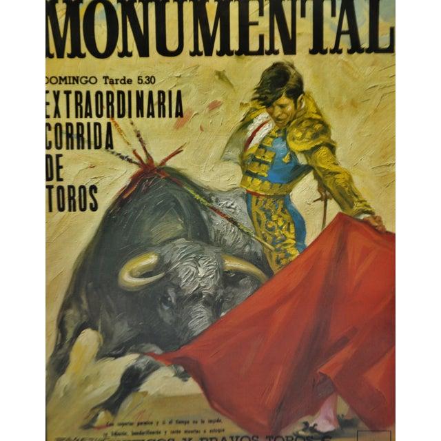 Spanish Vintage Framed 1971 Spanish Bullfight Running of the Bulls Lithograph For Sale - Image 3 of 13