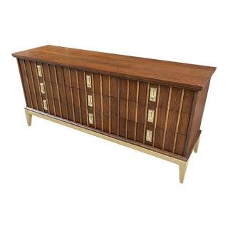 Mid-Century Walnut Dixie Lowboy Dresser For Sale