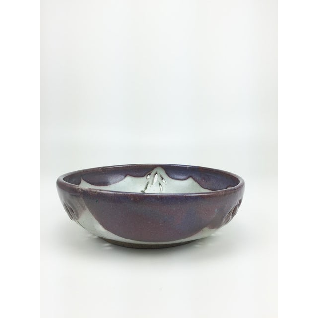 Studio Pierced Stoneware Fruit Bowl - Image 6 of 9