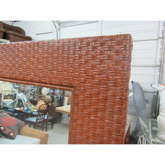 Tall Rattan Woven Mirror - Image 3 of 8