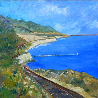 Contemporary Santa Barbara Seascape Oil Painting For Sale