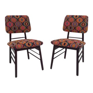 Re-Upholstered Original Knoll Chairs - A Pair