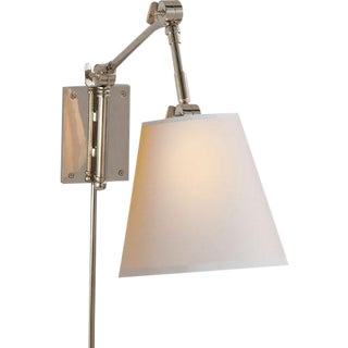 Polished Nickel Pivoting Sconces - A Pair For Sale
