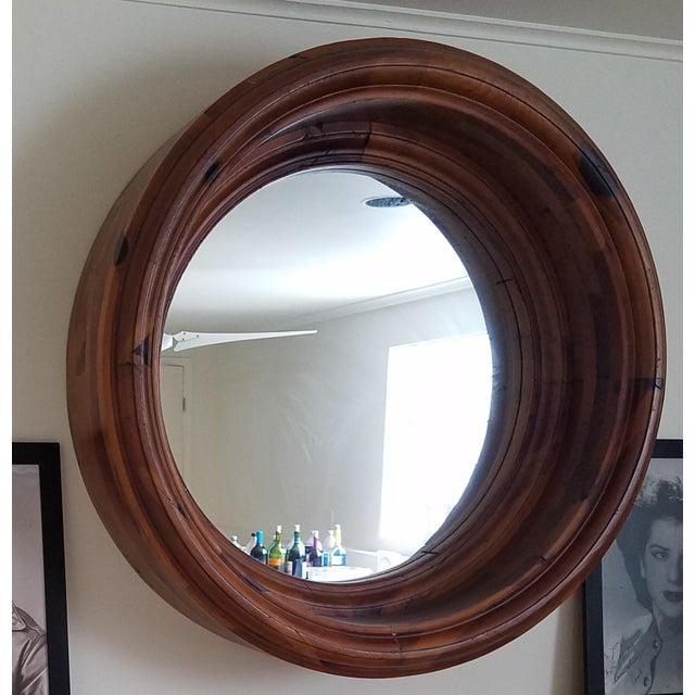 Rustic Ralph Lauren Porthole Mirror For Sale - Image 3 of 3