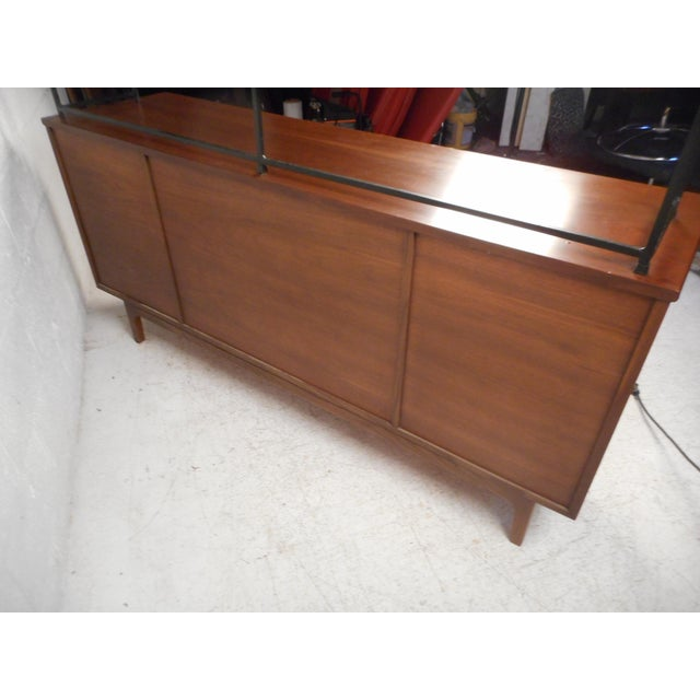 Vintage Modern Credenza With Topper by Stanley For Sale In New York - Image 6 of 13